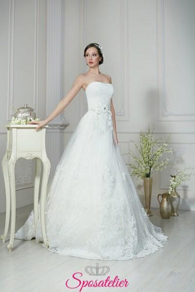 Abito da sposa con cintura con fiore nuova collezione 2018