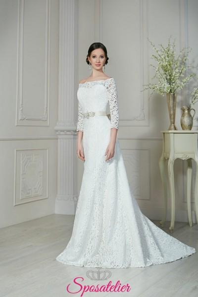 abiti da sposa scivolato in pizzo elegante collezione 2018