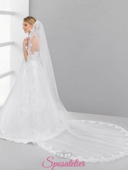 velo sposa lungo con orlo in pizzo 2017 online economico