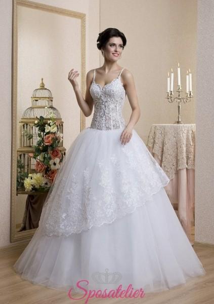 abito da sposa gonna a palloncino e balza nuova collezione 2018