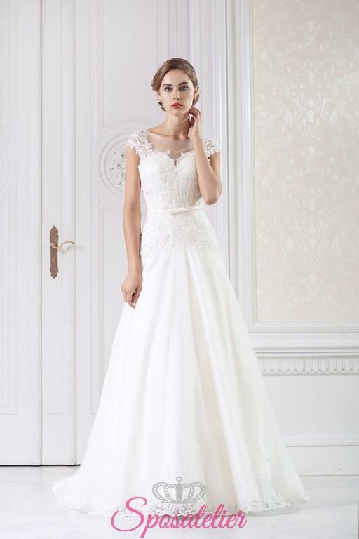 foto ufficiali d456d d02b3 Abito da sposa 2018 semplice e raffinato economico online