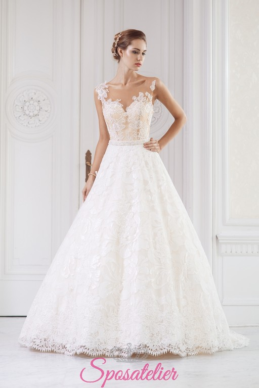 Extrêmement Abito da sposa 2018 corpetto color champagne e gonna avorioSposatelier SI36