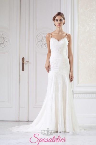abito da sposa a sirena in pizzo  online economici Italia  realizzato su misura