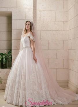 abito da sposa principesco colorato  2018 rosa e avorio