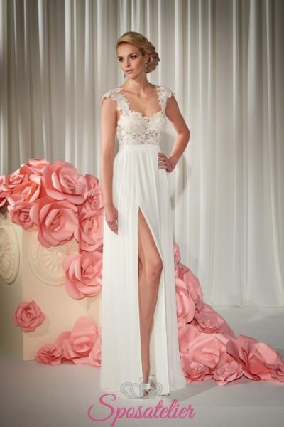 abito da sposa con spacco sexy collezione 2018  online economici