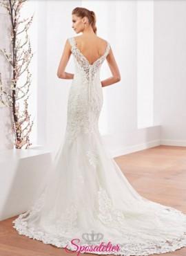 abito da sposa a sirena ricamato collezione 2018 online