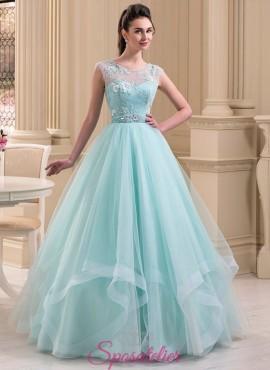 abiti da sposa color pastello 2018 celeste  economico online