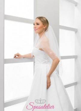velo sposa con brillantini online economico