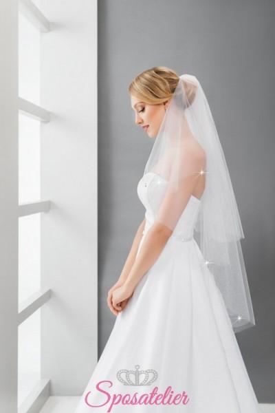 velo sposa con punti luce online economico