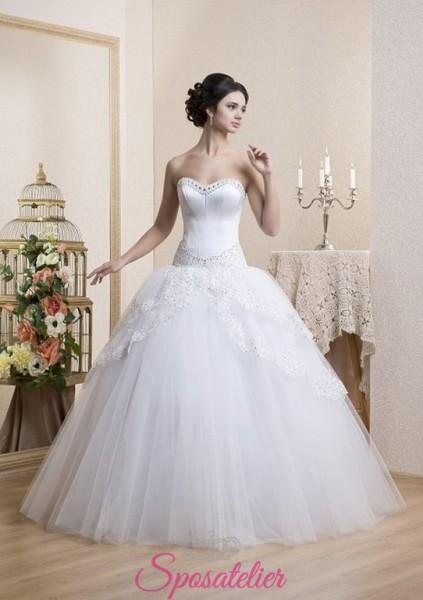 abiti da sposa pomposi 2017 gonna a palloncino