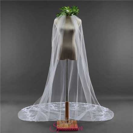 velo sposa on line economico lungo cattedrale