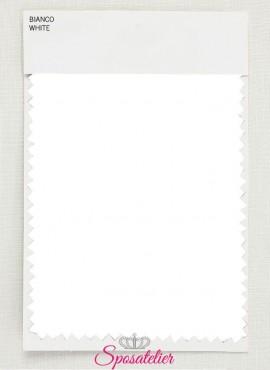 Campione di tessuto per abito da sposa colore bianco ottico