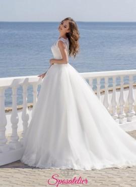 vestito da sposa ampio da principessa con coda vendita online