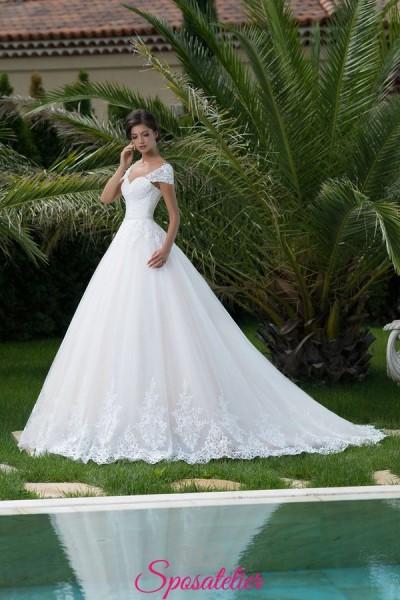 abiti da sposa con spalline e gonna ampia vendita online collezione 2018