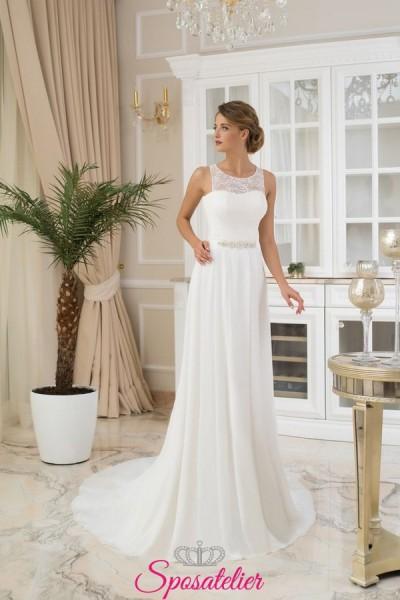 abiti da sposa scivolato elegante vendita online collezione 2018