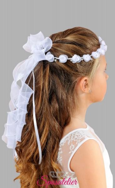 coroncina per vestito prima comunione bimba acconciatura per capelli vendita online