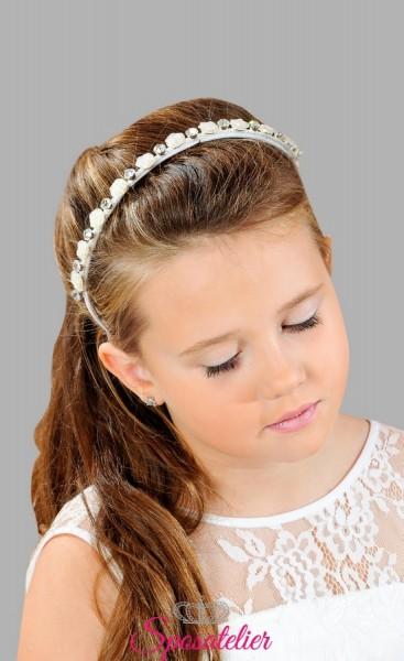 accessori per capelli per prima comunione bimba cerchietto con fiori vendita online