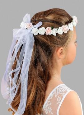 coroncina di fiori per bambina per la prima comunione accessori per capelli