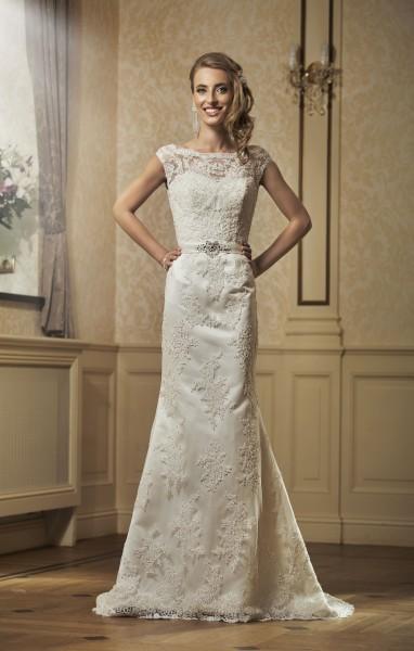vestido de novia sposa pizzo avorio