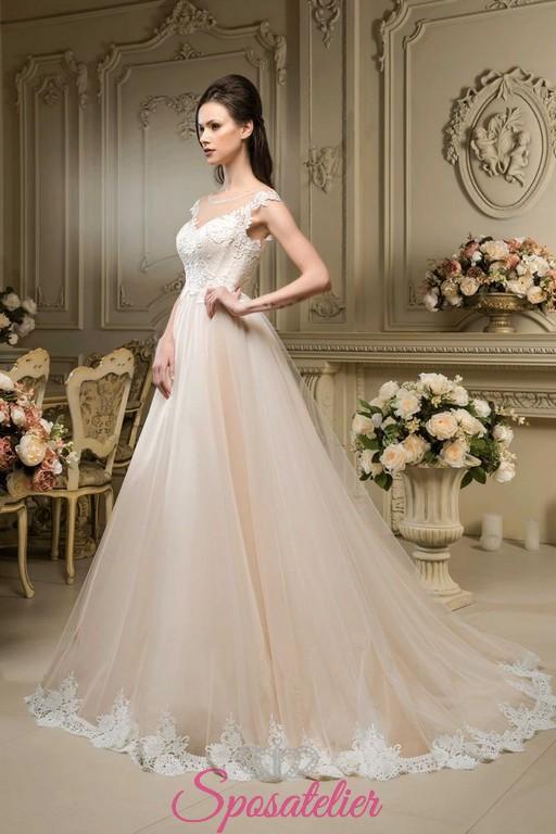 1f9c52182c54 abiti da sposa on line color champagne nuovo modello collezione 2018 ...