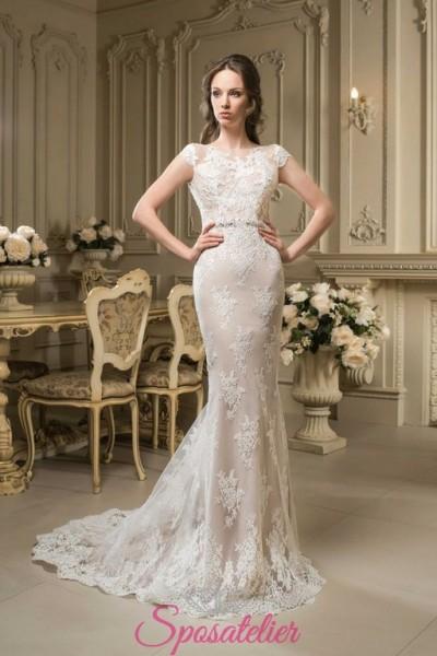 abiti da sposa a sirena  sensuale ed elegante colorato  vendita online