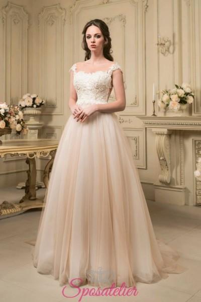 abiti da sposa colorato realizzato su misura economico vendita online