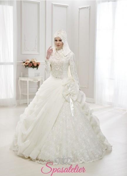 abiti da sposa arabi on line ragazze musulmane realizzati su misura