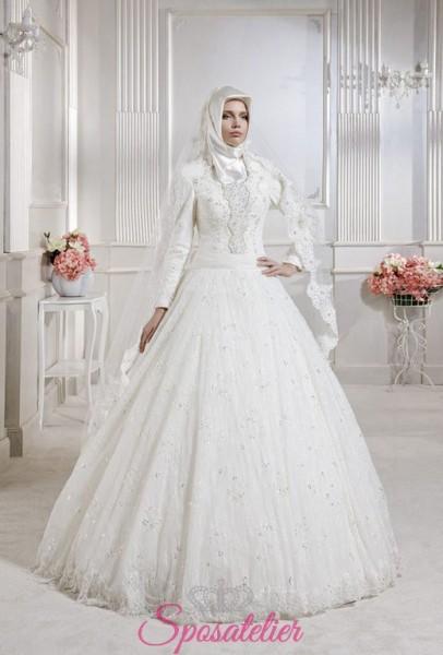 abiti da sposa tradizionale stile arabo on line con il burqa