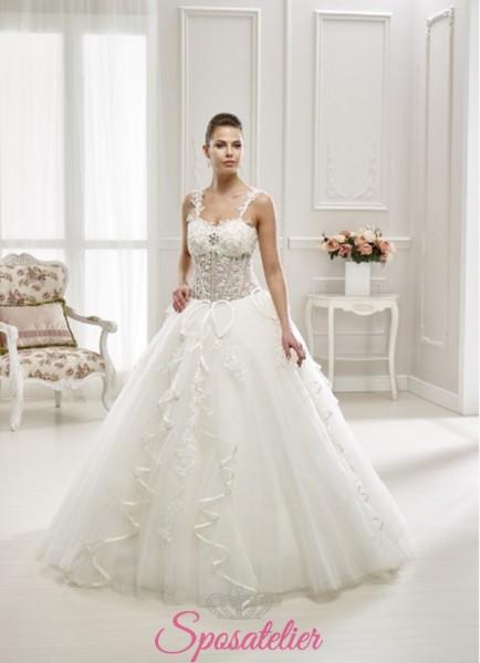 abiti da sposa  particolare ampio con decorazioni online  2018