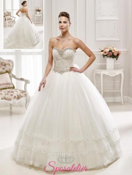 abiti da sposa ampio particolare e pomposo vendita online