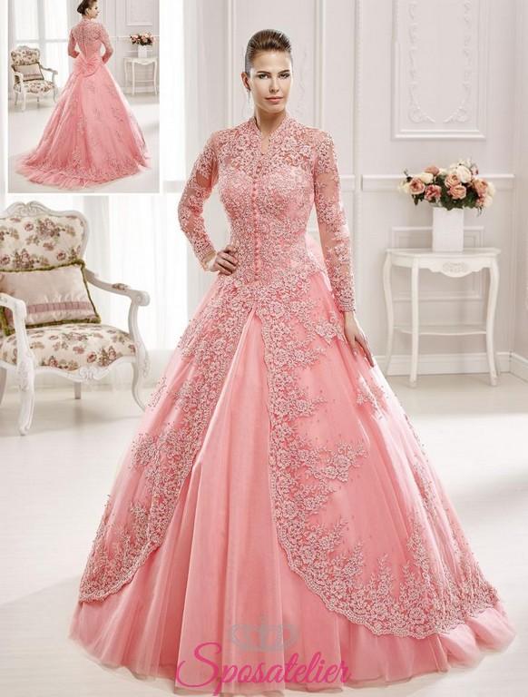 6fbc426b1d00 abiti da sposa in stile arabo invernale colorato a maniche lunghe on line