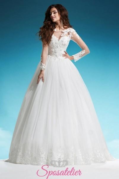 abiti da sposa sartoriali ricamati a mano su misura  vendita online