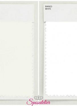 Doppia Campionatura di tessuto in bianco ottico e bianco avorio