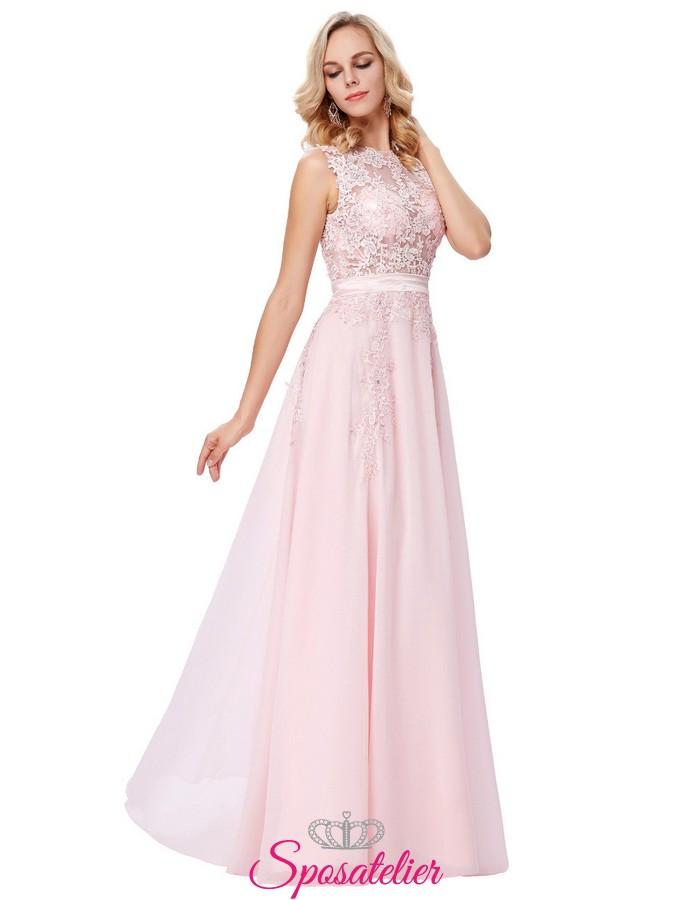 vestito rosa cerimonia