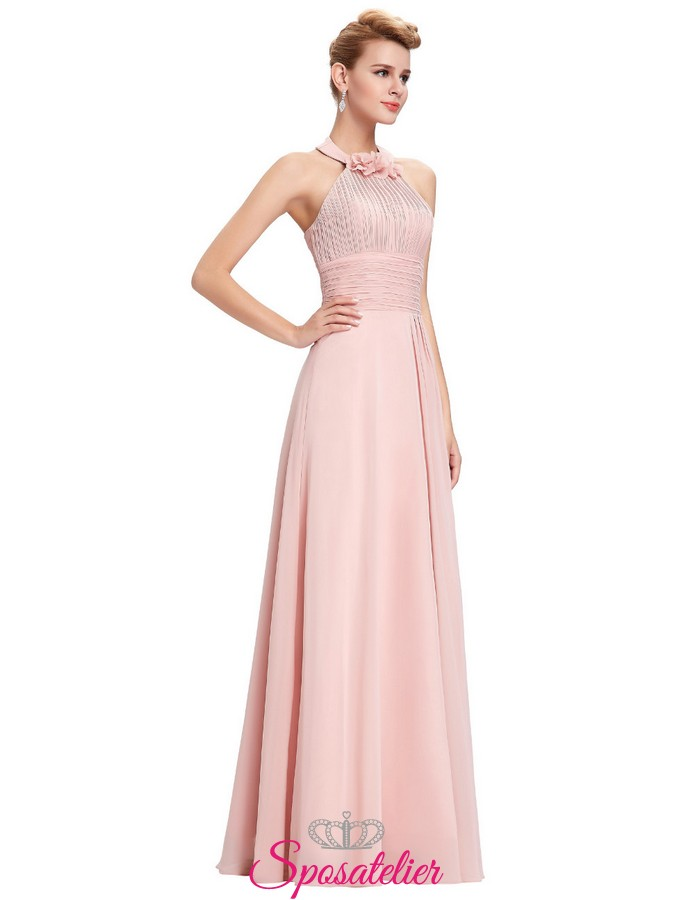 super popular ec504 95ac9 vestiti damigelle rosa chiaro o altri colori economici online 2017 2018