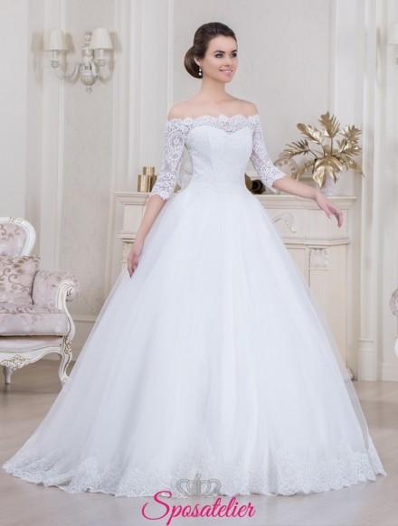 abito sposa scollo barchetta  realizzati sartorialmente e  su misura