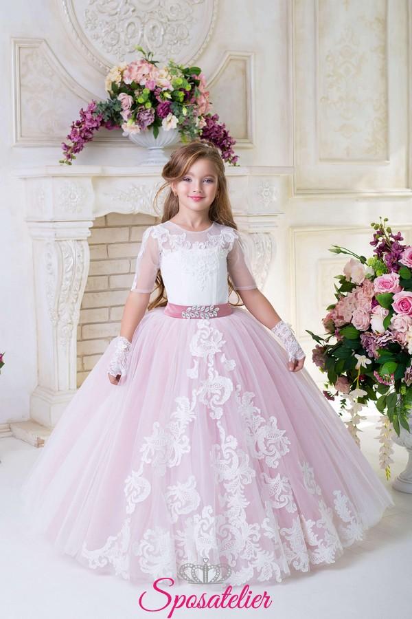 buy online 746fb 4b00d Abito cerimonia da principessa prima comunione bambina 2017