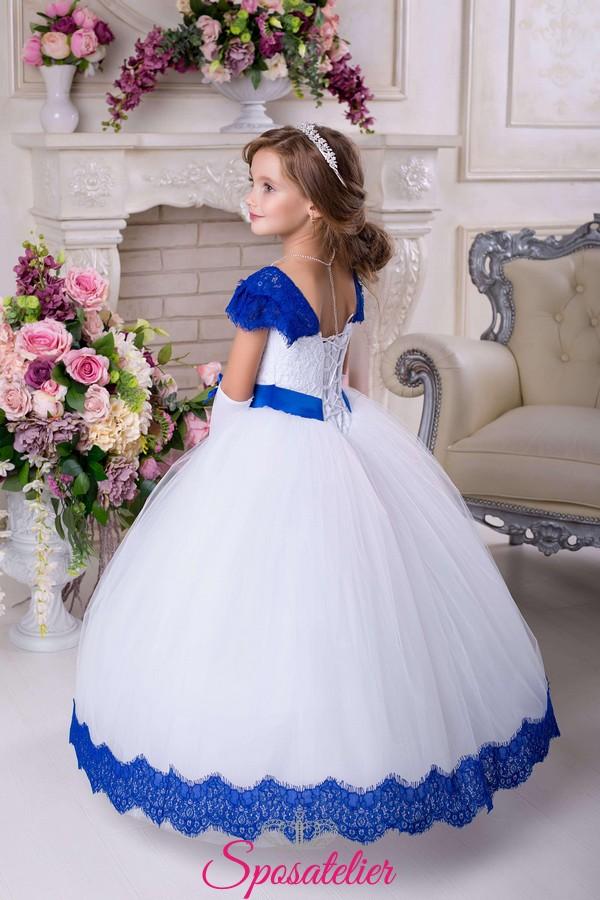 6f190dc4cf73 Abiti Da Cerimonia Bambina Blu » Abito per damigella bambina ...