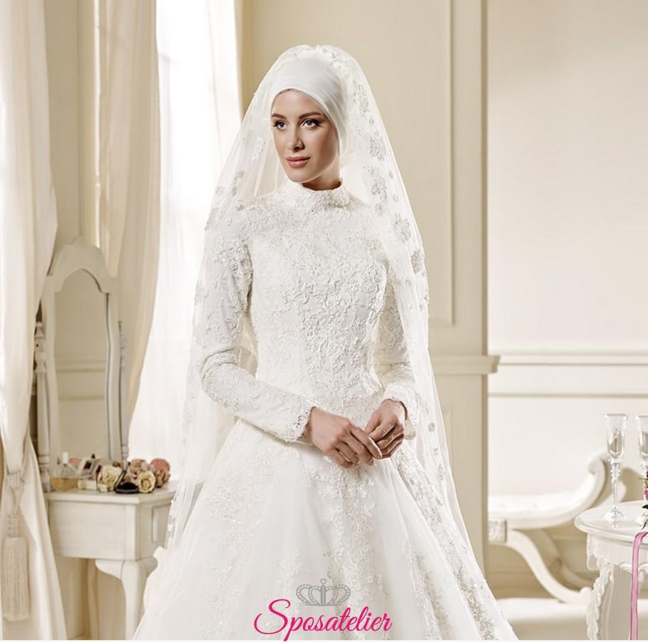 6b6c50bb8b74e abiti da sposa tradizionale stile arabo economico on line con il burqa