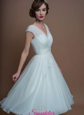 abiti da sposa corto elegante per matrimonio civile online economici