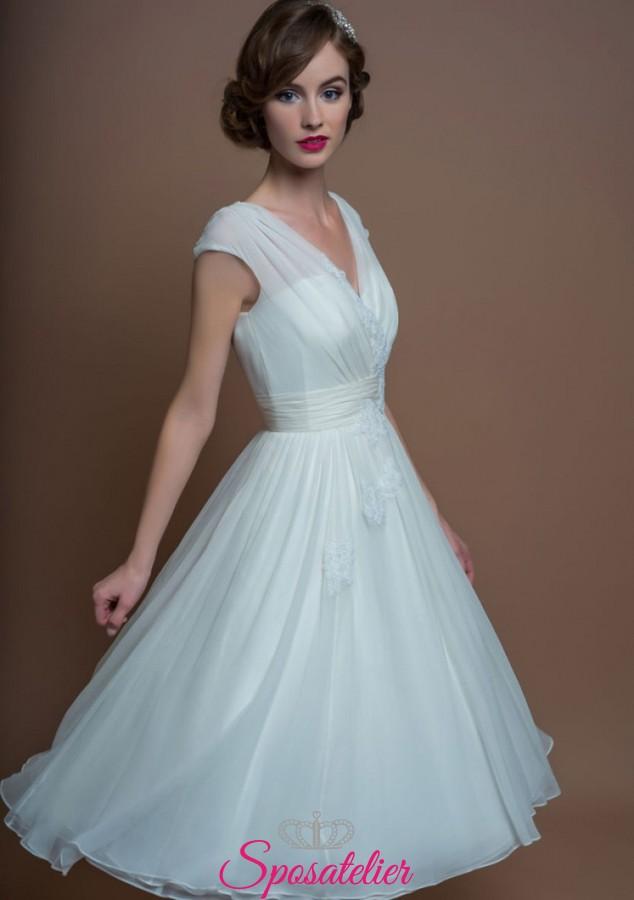 Abiti Da Sposa Cerimonia Civile.Abiti Da Sposa Corto Elegante Per Matrimonio Civile Online
