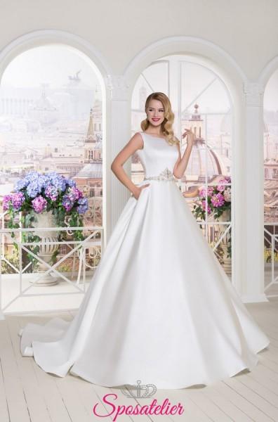 abiti da sposa ampi in raso vendita online collezione 2018