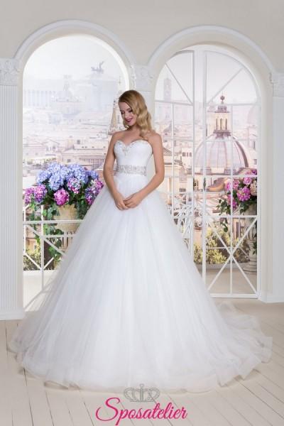 abito da sposa ampio da principessa con scollo a cuore vendita online