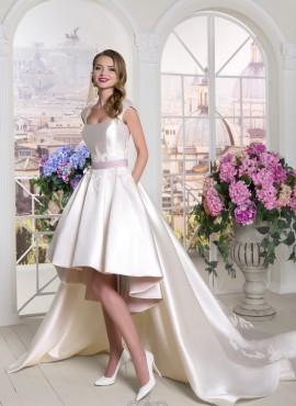 abiti da sposa corto e lungo con gonna staccabile