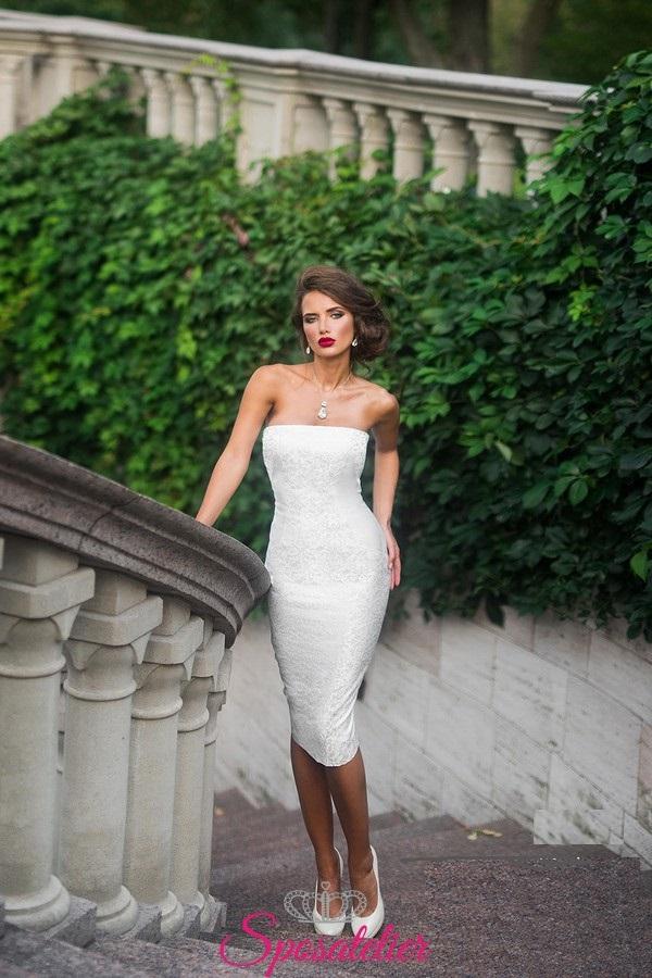 abiti da sposa corto elegante a tubino per matrimonio civileSposatelier aec6614738a