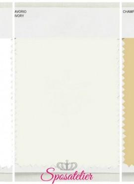 Pacchetto 3 Campioni di tessuto color bianco ottico, avorio e champagne