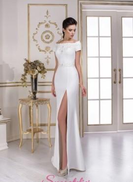 abiti da sposa con spacco laterale e scollo a barchetta vendita online