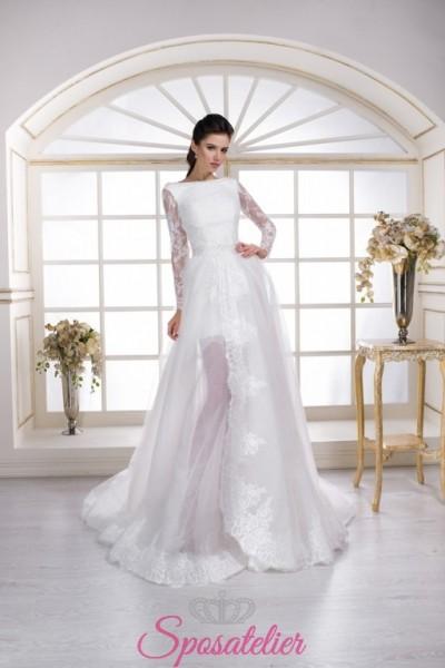 abiti da sposa con gonna staccabile rimovibile online economici