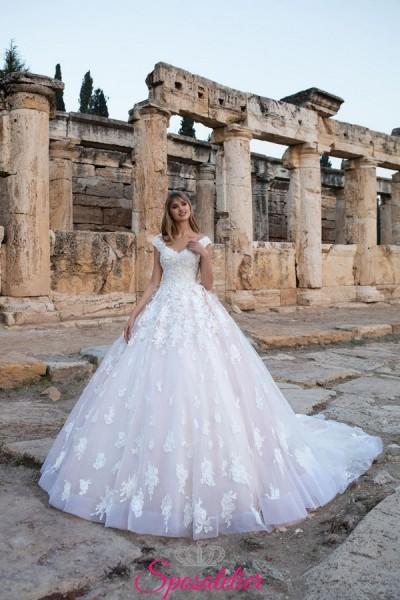 vestiti da sposa 2018 modello fiabesco on line  a prezzi economici
