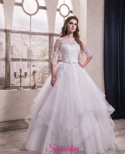 abito da sposa romantico modello principessa con balze